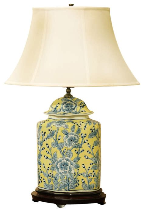 uttermost mirrors sale blue and yellow porcelain jar l with silk shade