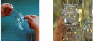 Pot En Verre Deco : fabriquer un lampion bougie avec des pots de yaourt en verre ~ Melissatoandfro.com Idées de Décoration