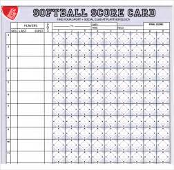 Printable Softball Score Sheet Template