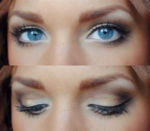 wedding makeup for blue eyes brown hair   ... passt zu ...