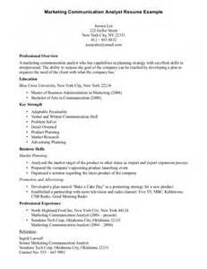 communication skills resume statement sle cv of business development manager domestic