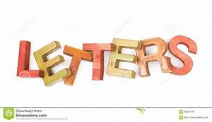 Word made of wooden letters isolated stock image for Letters made from photos