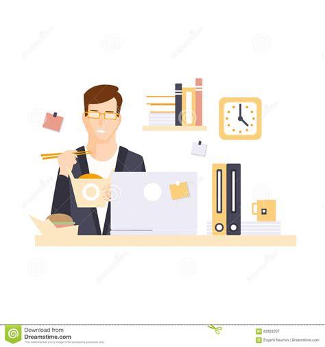 employe de bureau employé de bureau d 39 homme dans le compartiment de bureau