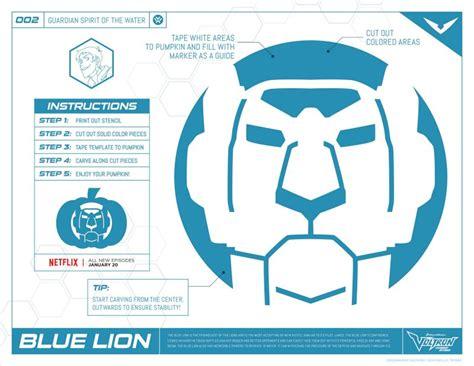 Voltron Blue Lion Pumpkin Stencil Mama Likes This