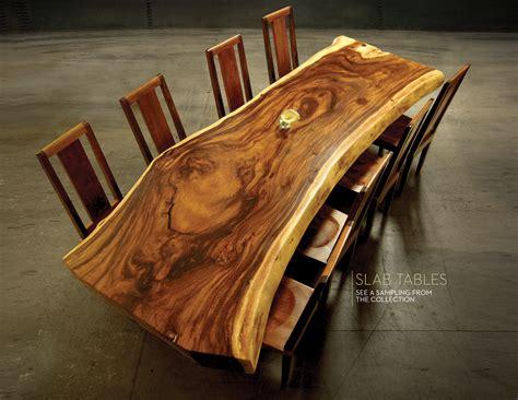 custom slab tables  edge coffee tables  san diego