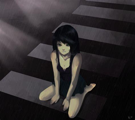 Sad Anime Girl By Konpeitokey On Deviantart