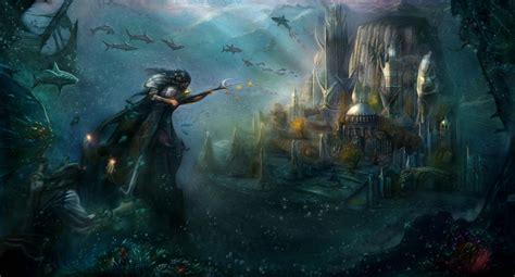 Underwater temple Poseidon by GutsBerserk on DeviantArt