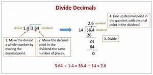 Dividing A Decimal By Another Decimal  Solutions  Examples