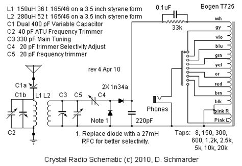 Ratio Crystal Radio Detector Circuit The