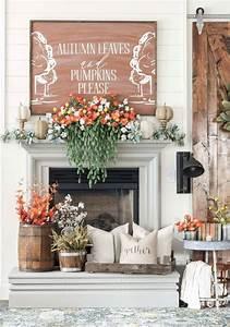 20, Unbelievably, Inspiring, Fall, Mantel, Decorating, Ideas