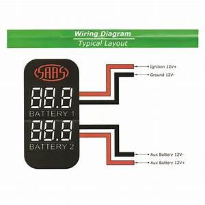 Saas Dual Battery Volts Switch Gauge Digital Gauge Fit