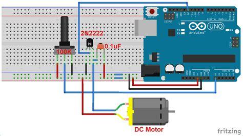 Motor Speed Control Using Arduino Potentiometer