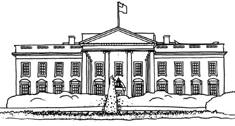 coloring picture white house picture