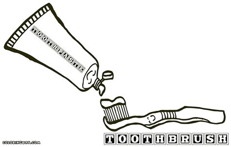 Toothbrush And Toothpaste Coloring Page Toothpaste Coloring Page Coloring Pages