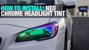 How To  Install Neo Chrome Headlight Tint Film