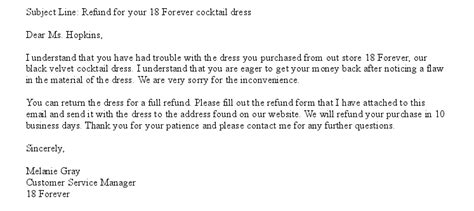 Examples Customer Service Emails