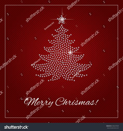 christmas greeting card or poster shimmering diamond