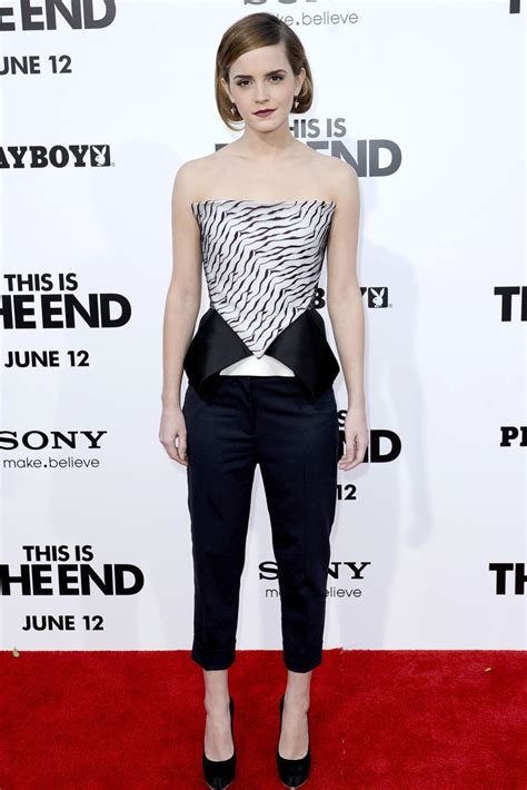 Emma Watson Shows Off Chic Bob This The End Premiere