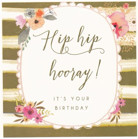 hip hip hooray birthday card karenza paperie