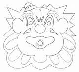 Coloring Carousel Boardwalk Mouth Santa Cruz Clown Looff Popular sketch template
