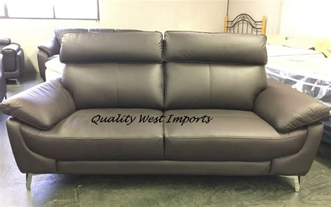 Real Leather High Back Sofa Set 32 9676 Quality West