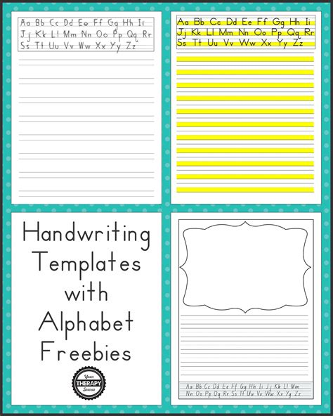 handwriting templates  alphabet guides  therapy source