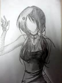 Goth Anime Girl Drawing