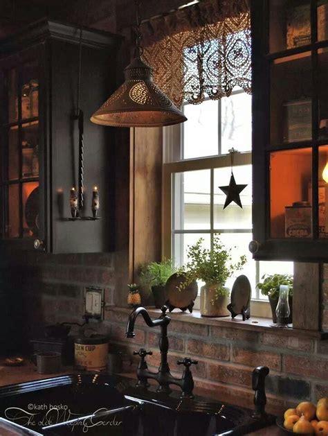 primitive kitchens images  pinterest