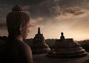 Buddha Statue  Borobudur Temple  Java  Indonesia Photo On