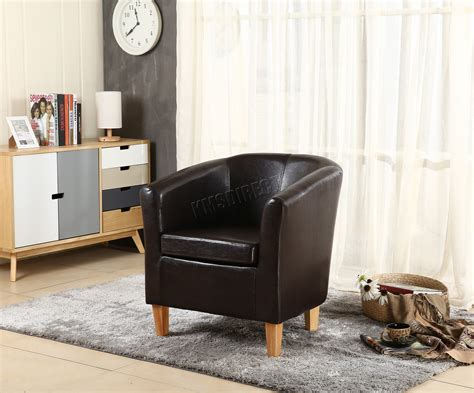 Foxhunter Tub Chair Armchair Faux Leather Dining Room