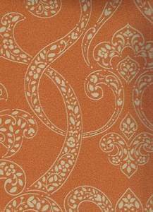 Paisley Scroll Orange Wallpaper | There's No Place Like ...