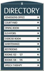 designer bathrooms gallery custom directory signs room directory signs hotel signs