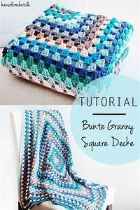 Granny Squares Häkeln : tutorial bunte granny square decke ~ Orissabook.com Haus und Dekorationen