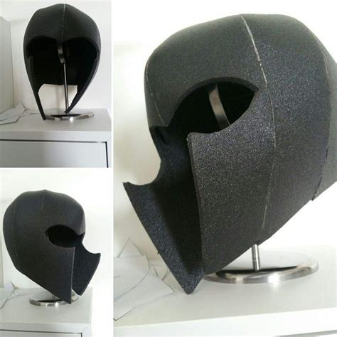 foam helmet template lining a foam helmet with fabric amino