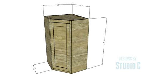 how to build a corner cabinet for a tv diy plans to build a tall diagonal face upper corner cabinet