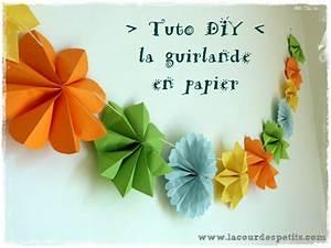 Faire Une Guirlande En Papier : comment faire une fleur en papier avec les enfants la cour des petits ~ Melissatoandfro.com Idées de Décoration