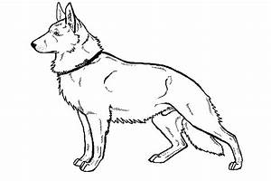 German Sheperd - Free Coloring Pages