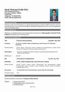 Civil Engineer Resume Format Image