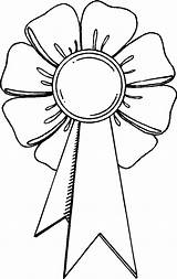 Coloring Award Ribbon Trophy Outline Oscar Drawing Pages Printable Getcolorings Getdrawings sketch template