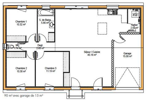 Extraordinaire Plan Maison Plain Pied 100m2 Gratuit Plein