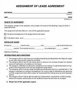 assignment agreement template 9 free word pdf format With assignment of lease template
