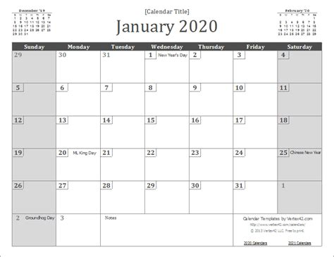 Permalink to Free Printable 2020 Calendar With Holidays And Lines