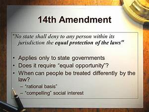 The 14th Amendment to the U.S. Constitution - ppt video ...
