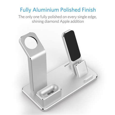 metaal    apple  airpods iphone laadstandaard zilver gratis verzending dealextreme