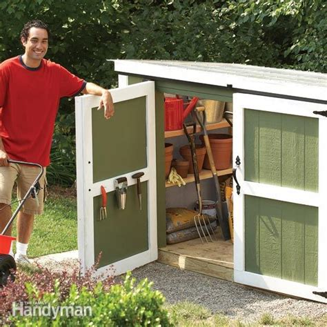 Lawn Mower Storage Shed by Outdoor Storage Locker The Family Handyman