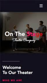 Theatre Company Website Templates by Creative Arts Website Templates Wix