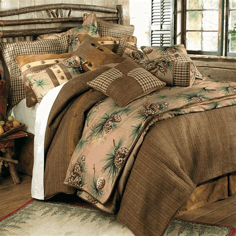 rustic bedding queen size crestwood pinecone bed setblack forest decor