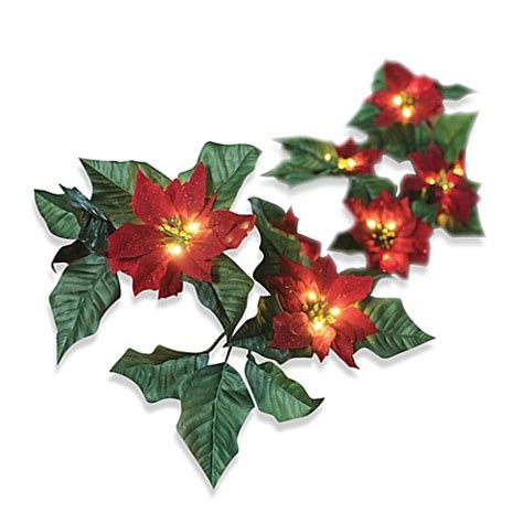 6 foot battery operated wrapped lighted red poinsettia