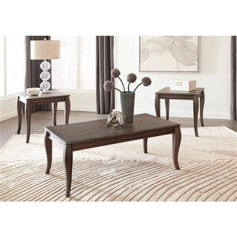 Round gray coffee table with big storage: METALLIC GRAY COFFEE END TABLE SET