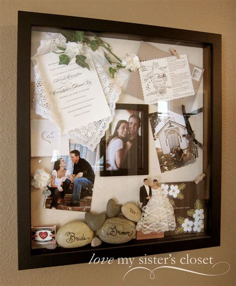 wedding shadow box  invitation